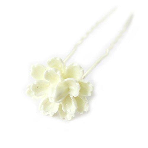 Les Trésors De Lily [M7565] - Set de 20 picots à chignon 'Rosa Romantica' beige ivoire