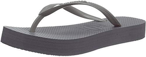 Havaianas Damen Slim Flatform Zehentrenner, Grau (Steel Grey 5178), 41/42 EU