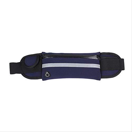 fhdc Riñoneras Correr Bolsillos Deportivos Montar A Caballo Al Aire Libre Cinturón Impermeable Cinturón Transpirable Multifuncional 6 Pulgadas Impermeable Azul Burdeos