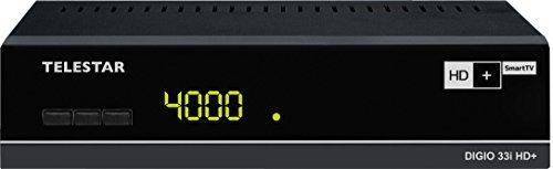 Telestar Digio 33i HD+ Satelliten-Receiver (HDMI, Audio-/Video Cinch, Ethernet, PVR-Ready, 2X USB 2.0, Netzschalter) schwarz
