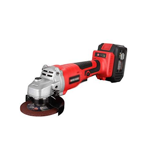Amoladora angular de 100 mm herramienta eléctrica recargable, mini amoladora angular inalámbrica de 10000 rpm para cortar, moler, pulir,2 battery