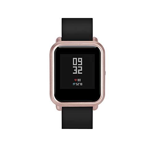 Mambain Pc Cover di Copertura Protezione Guscio per Xiaomi Huami Amazfit Bip Youth Watch (Rose d'oro)