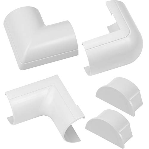 D-Line 50x25mm Maxi Cubierta de Cable Accesorios - Blanco