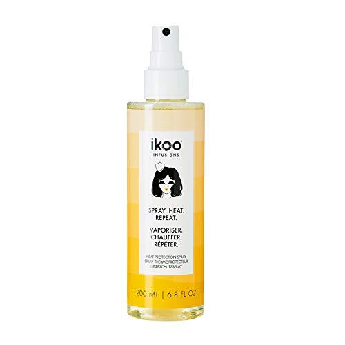 ikoo Heat Protection Spray I Hitzeschutzspray für Haare glätten, locken & föhnen I Starker Hitzeschutz bis zu 200°C I Haarpflege aus 100% natürlichen Polymere für gesunde Haare I ohne Silikone, 200ml