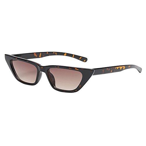 Battnot Sonnenbrille für Damen Herren, Unisex Vintage Katzenaugen Form Rahmen Mode Anti-UV Gläser Sonnenbrillen Schutzbrillen Männer Frauen Retro Billig Cat Eye Sunglasses Fashion Women Eyewear