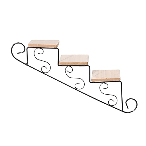 N / B Wall-Mounted Shelf, 3-Story Home Wall Decoration Retro Wrought Iron Flower Stand Durable Easy to Install, for Bedroom Living Room Coffee Shop