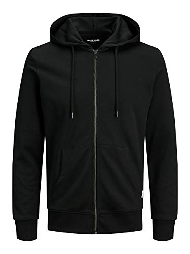 JACK & JONES Male Hoodie Basic Reißverschluss XLBlack