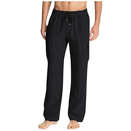 2021 Nouveau Mode Homme Pantalons de Sport, Jogging Sport Hommes avec Grandes Poches Latérales Grande Taille Pantalon Noir Travail de Loisirs Casual Workout Vêtement Homme