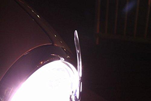 【ノーブランド品】汎用 光る ミニコーナーポール ヘッドライトの光を利用 配線不要 フロント カー用品 パーツ 便利 バンパー エアロ車庫入れ 接触防止