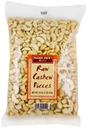 Trader Joe's Raw Cashew Pieces 1 lb Bag (Pack of 2)