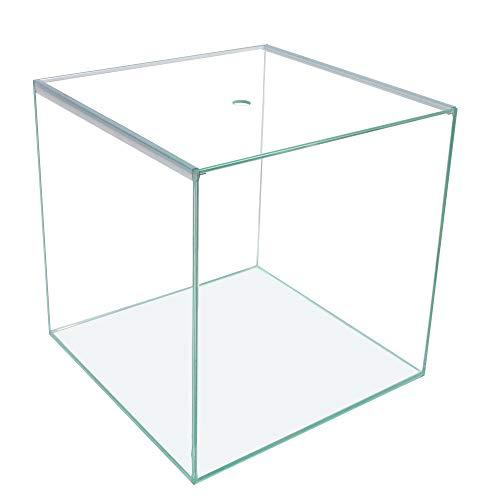 Ultra Clear Glas-Aquarium/Terrarium Würfel 40x40x40cm,64L, Glas-Abdeckung+Unterlage