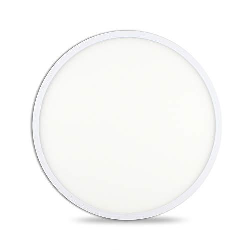 VIPMOON Lampada da soffitto 24W LED 3000K bianco caldo Ø24cm per interno da incasso, plafoniere rotonde per camera da letto Bagno Cucina Corridoio Ufficio Vano scale