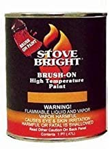 Stove Bright Brush-On 1200 Degree Paint - Pint- Charcoal Color