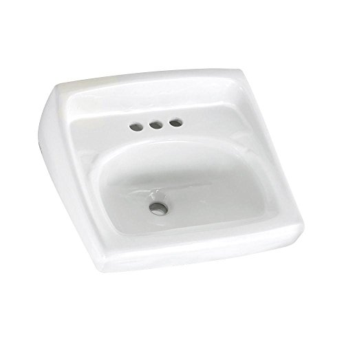 American Standard 0355.012.020 Lucerne Wall-Mount Lavatory Sink with 4-Inch Faucet Holes, White American Standard 10 Hole