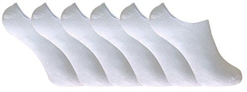 6 paar damen bambus unsichtbar anti schweiß sneaker socken/füßlinge mit silikonferse (37-41 eur, BNSTL White)