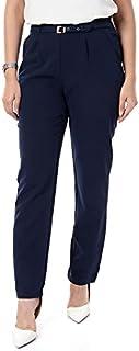 M.Sou Blue pants Large Size For Women PAN-B112013102007-NAVY-L