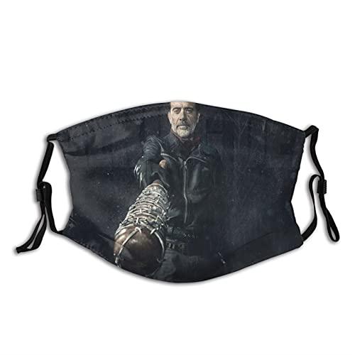 QPZM Th-e Wa-lki-ng De-ad cubre la cara reutilizable 1 pieza pasamontañas máscara transpirable escudos lavables bandanas bufanda diadema abrigo para hombres mujeres negro