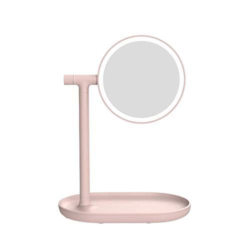 Miroir de Maquillage, Grand métal européen Rond Grand Bureau Soins de Peau Rasage HD Coiffeuse Miroir cosmétique R11 (Taille: 30 * 13 * 50cm)