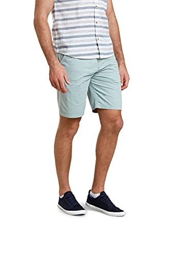 Mountain Warehouse Pantalones Cortos Take a Break para Hombre - 100% algodón - Protección UV - Ligeros y Transpirables - con Bolsillos - para Paseo, Senderismo y Viajes Verde Claro 62W