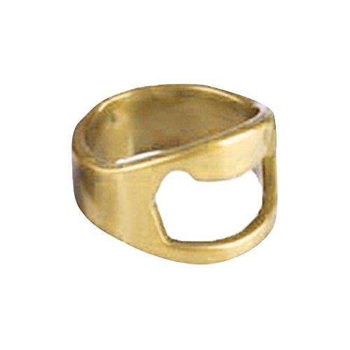 Chnrong Abrebotellas de cerveza en forma de anillo, herramienta de acero inoxidable dedo pulgar anillo abridor novedad regalo barra de fiesta accesorio kichen herramienta