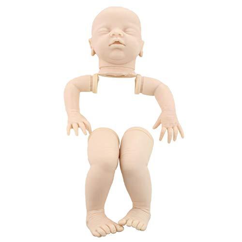 Urstory1 Reborn Doll Kit 20 pulgadas sin pintar suave regalo de cumpleaños completo cabeza de silicona realista juguete DIY Real Touch anatómicamente casero divertido simulación