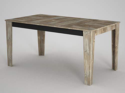 Alphamoebel 5002 Costa Esstisch moderner Küchentisch Tisch für Wohnzimmer, Kratzfeste Melamin Oberfläche, Eiche, Holz, 6 Sitzplätze, 145 x 76 x 85 cm