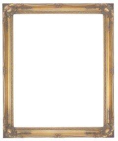 FRAMES BY POST Grande Specchio da Parete con Cornice Dorata, Design Moderno e Ornato in Stile Shabby Chic, Dimensioni: 102 cm x 71 cm