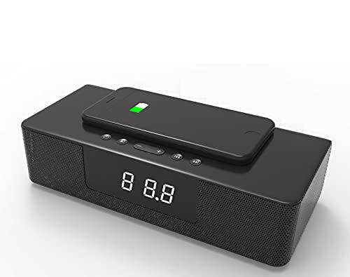 ErLaLa Altavoz Inteligente explosión BS-39A Carga inalámbrica Sound Blaster Altavoz Bluetooth Llamada Manos Libres Alarma Inteligente Altavoz de Escritorio