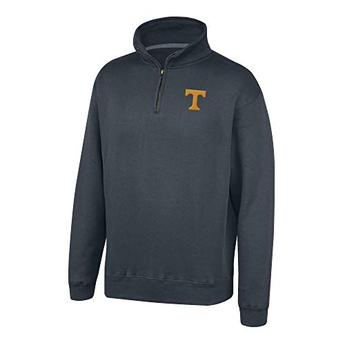 Top of the World Tennessee Volunteers Men's Dark Heather Classic Quarter Zip Pullover, Large