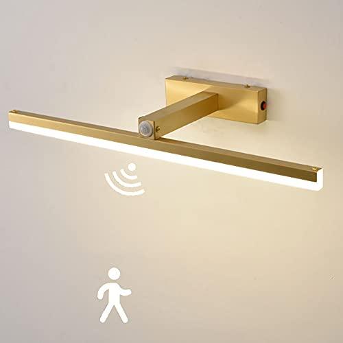 Lámpara de Espejo Baño LED Aplique de Espejo 43CM lámpara de maquillaje Lámparas de cuarto de baño con sensor de movimiento Blanco Neutro 4000K 800LM Luz de maquillaje Con interruptor
