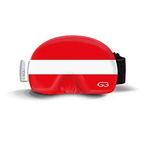 Soggle Native 03 Austria - Funda de microfibra para gafas de esquí (talla única), color verde