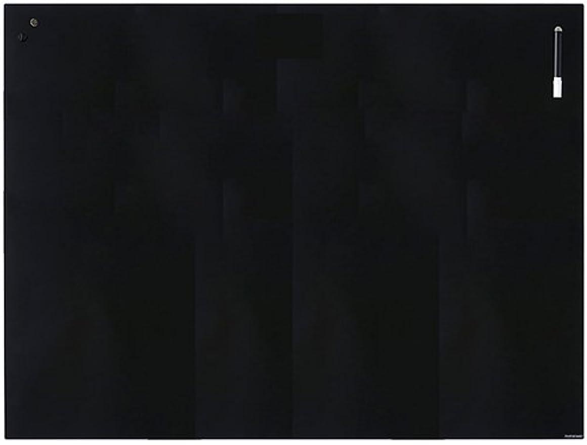 うなずく知覚する椅子プラス Garage ホワイトボード チャットボード 強化ガラス 壁掛け マグネット使用可 90×120 ブラック 417102