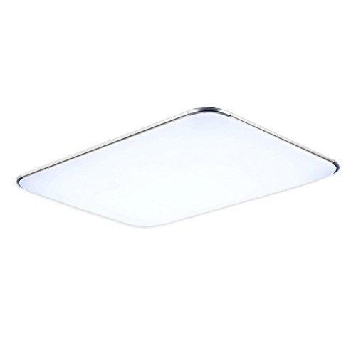 MCTECH 48W LED Deckenleuchte Ultraslim Modern Deckenlampe Flur Wohnzimmer Lampe Schlafzimmer Küche Energie Sparen Licht Wandleuchte Farbe Silber Warmweiß