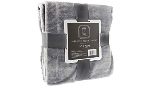 THE FIREFLY COLLECTION Ultra Plush Throw Blanket, 50 x 70 Inches, Granite Grey – Use as Your Couch Throw Blanket or Comfy Chair Blanket Throw – A Perfect Fluffy Blanket for Home and Travel