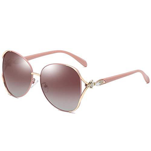 HPPSLT Retro Polarisiert Sonnen Verspiegelt Polarisierte VintageSonnenbrille, Europäische und amerikanische Fox Head Sonnenbrille Metal Diamond Sonnenbrille-1