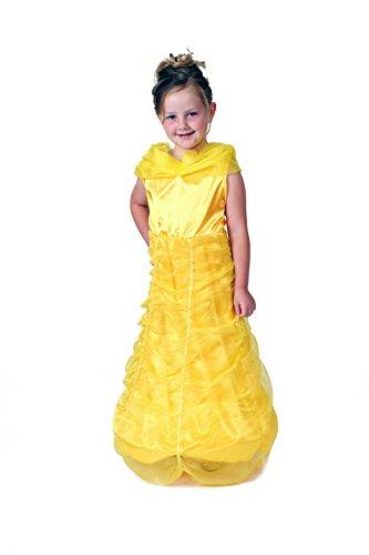 Storybook Wishes Vestido de princesa amarillo con aro (elegir la talla) (6/8, amarillo)