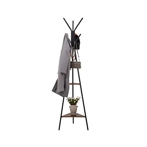Guuisad Rack de abrigo de dormitorio, perchero de pie 180 cm de 180 cm de estilo europeo de la capa de piso de lujo de lujo bedramante para el hogar prepacha integrada simple para el sombrero, ropa, b