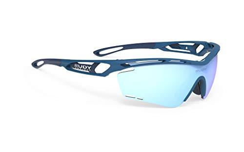 ルディプロジェクト(RUDYPROJECT) スポーツ サングラス ロード バイク 自転車 マラソン ジョギング 運動 トライアスロン テニス 野球 TRALYX トラリクス パシフィック ブルー マット フレーム/マルチ レーザー アイス レンズ SP3
