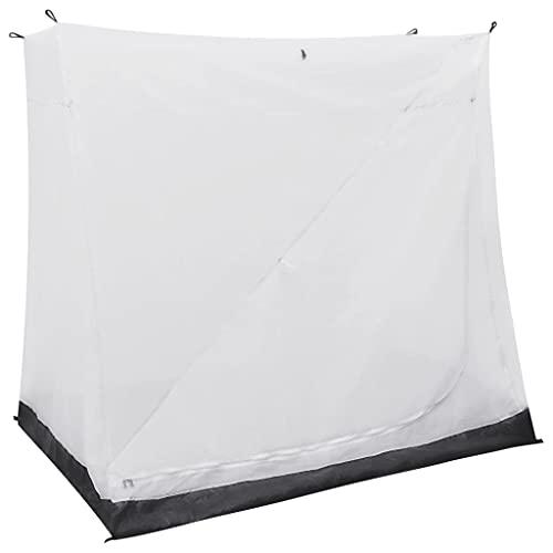 vidaXL Tente Universelle d'Intérieur Auvent Caravane Robuste Durable et Résistant à l'Eau Ajouter une Zone de Couchage Gris 200x135x175 cm