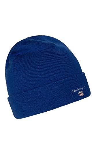 Gant 9910002-436 Logo Hat Gorra de punto para hombre, color azul