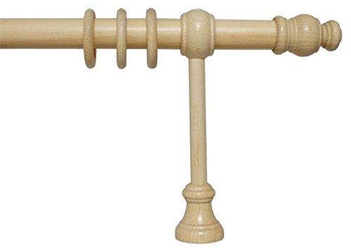 iso-design Gardinenstange aus Holz mit 28 mm Durchmesser in Natur, viele Größen, 160 cm