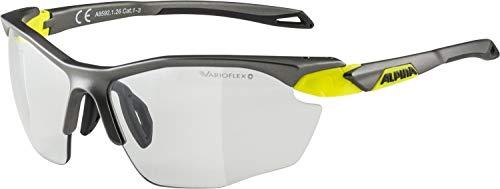 ALPINA TWIST FIVE HR VL+ Sportbrille, Unisex– Erwachsene, tin matt-neon yellow, one size