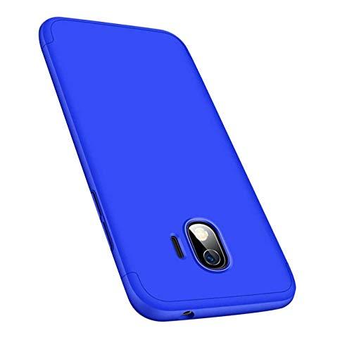 Cover compatibile con Samsung Galaxy J3 2017, custodia a 360°, protezione integrale 3 in 1, ultra sottile, anti-urto, anti-graffio blu Galaxy J3 2017 5.0'