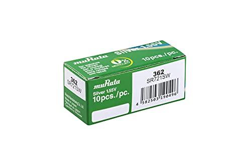 Sony 362 SR721SW Silberoxyd Uhrenbatterie Quecksilberfrei Pack von 10