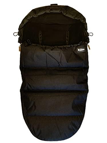 The Buppa Brand 9A110103 - Saco de invierno universal para cochecito de bebé, color negro