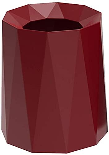 Cubo de Basura, Moderno, Ligero, de Lujo, Cubo de Basura para el hogar, Cubo de Basura sin Tapa, Creativo, Gran Capacidad, Papelera, Papelera de Reciclaje