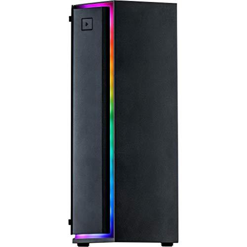 Inter-Tech S-3906 Renegade Gaming-Tower/PC-Gehäuse, Schwarz, ATX, ITX, Micro ATX