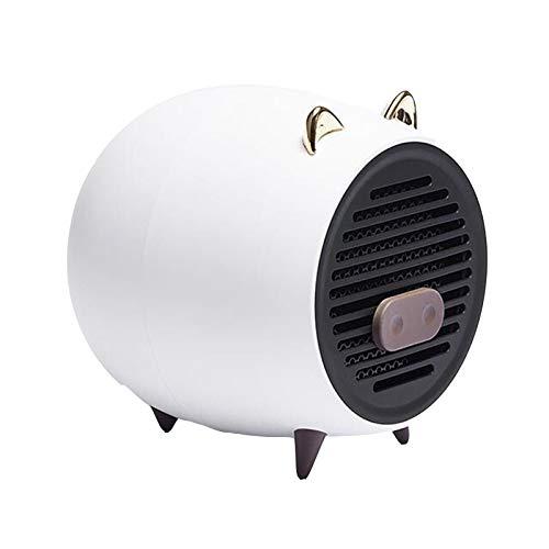 JINBAO Calentador Mini Pequeño Calentador Silencioso a Prueba de Explosiones Que Ahorra Energía y Ahorra Energía Sala de Estar Baño Dormitorio Mesita de Noche Oficina Escritorio-Blanco