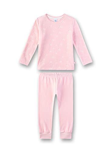 Sanetta Mädchen Pyjama Zweiteiliger Schlafanzug, Rosa (Rosarot 3532), (Herstellergröße: 128)