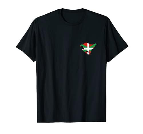 Logo del mapa vasco y la bandera del pecho - recuerdo vasco Camiseta